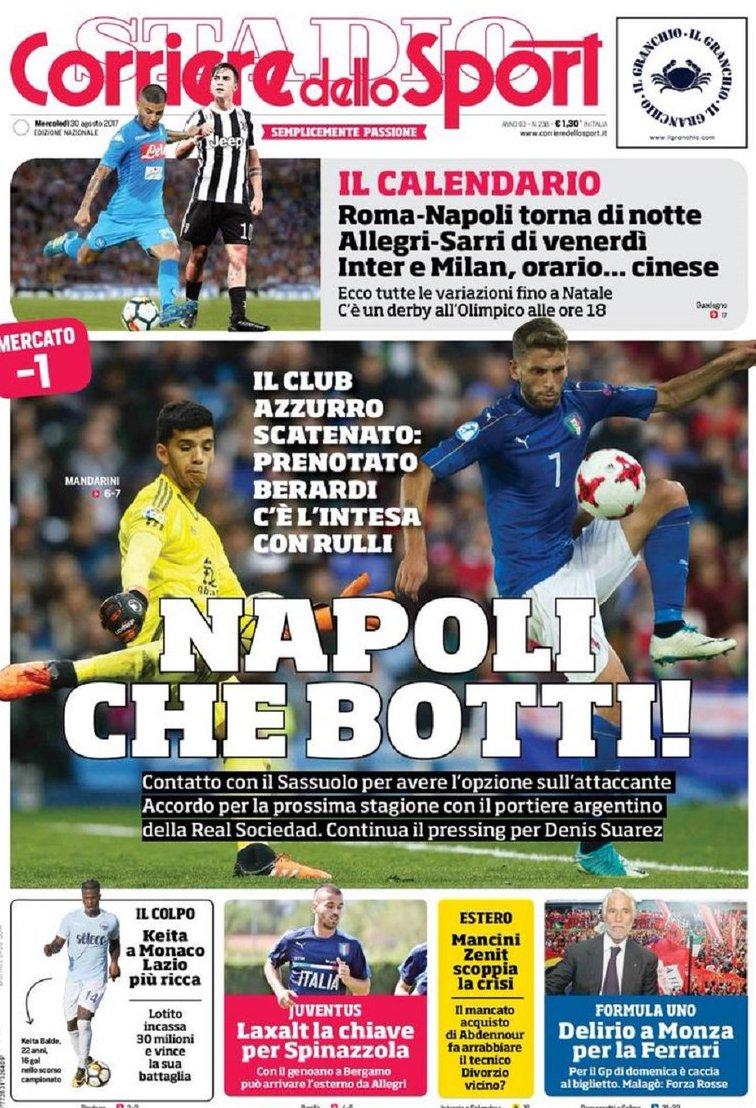 Corriere sport Napoli botti