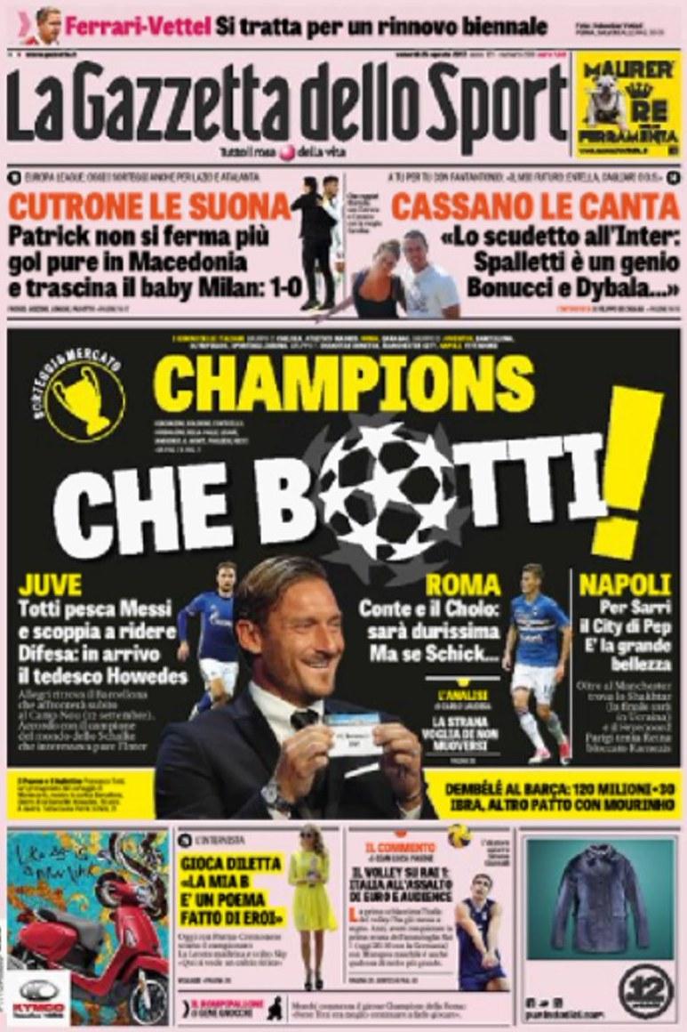 Gazzetta Champions botti
