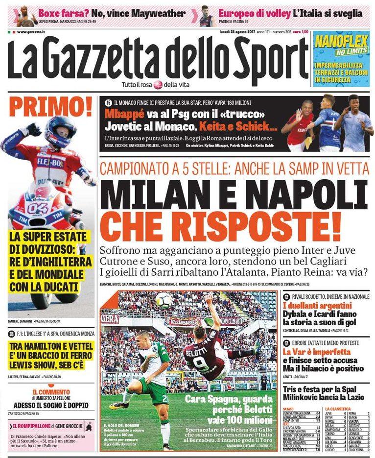 Gazzetta Milan Napoli