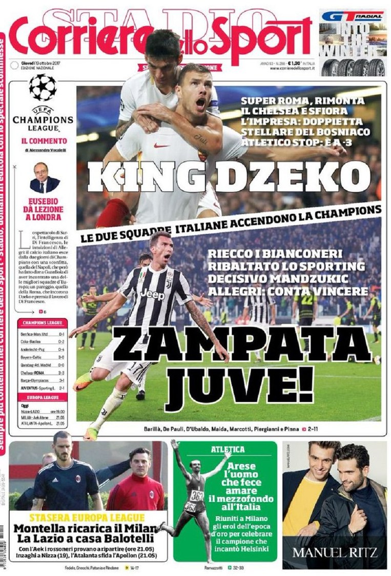Corriere Sport Zampata Juve