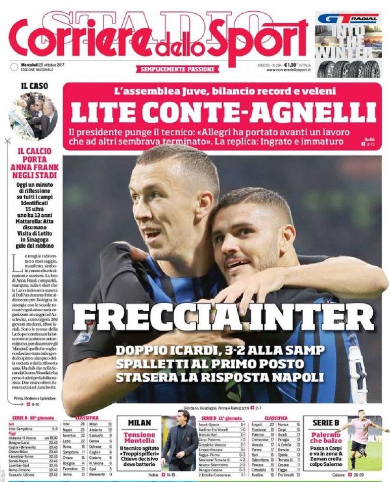 Corriere sport Freccia Inter