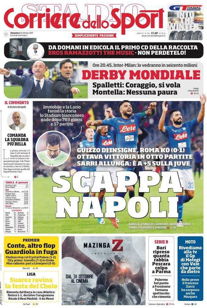 Corriere sport scappa Napoli