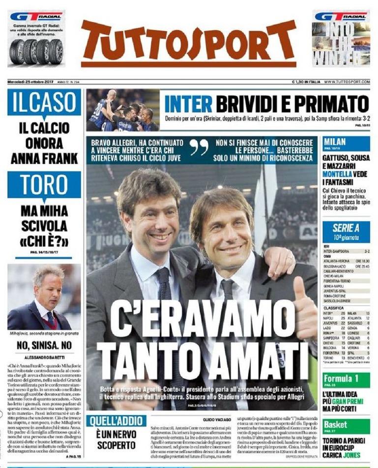 Tuttosport Agnelli Conte