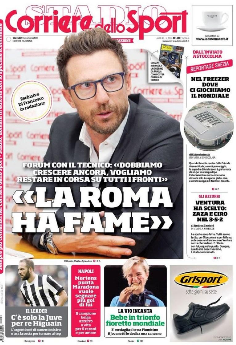 Corriere sport Di Francesco