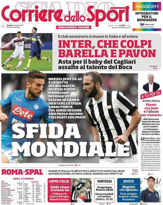 Corriere sport Napoli Juve