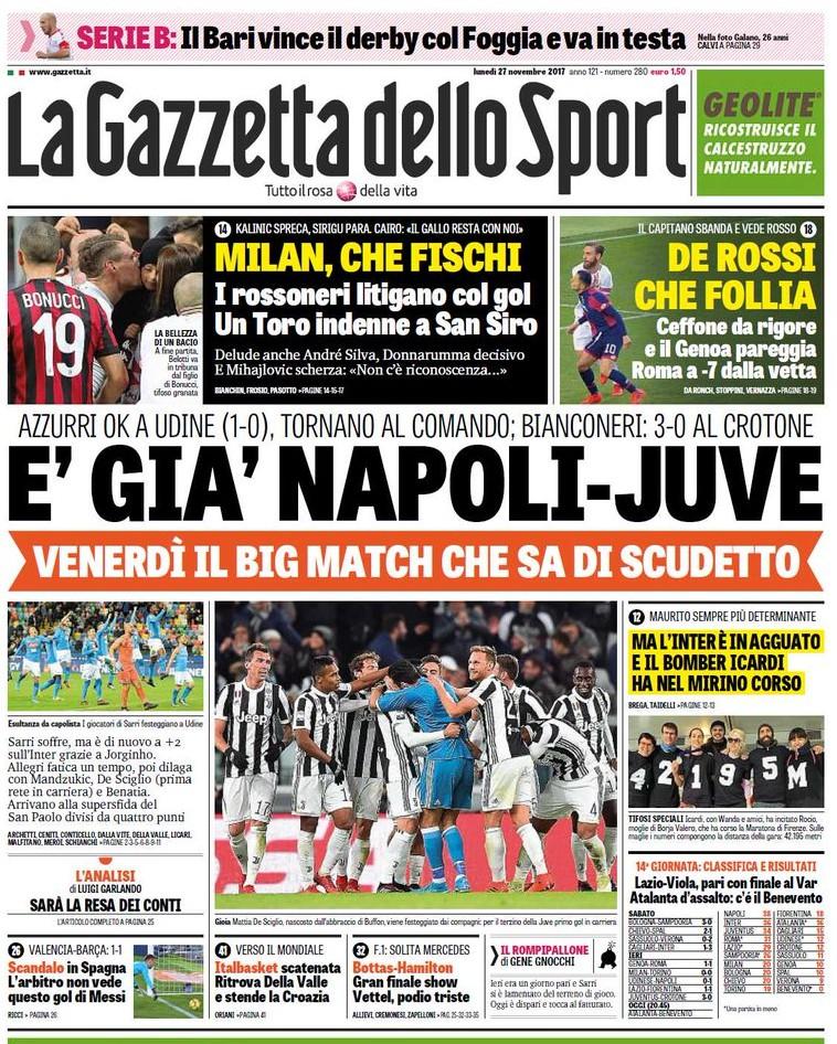 Gazzetta Napoli Juve