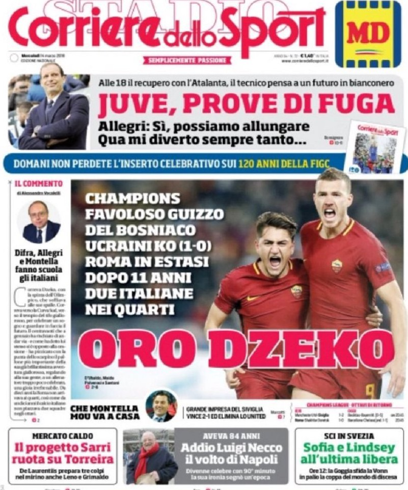 Corriere sport Dzeko