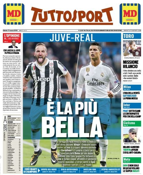 Tuttosport Juve Real