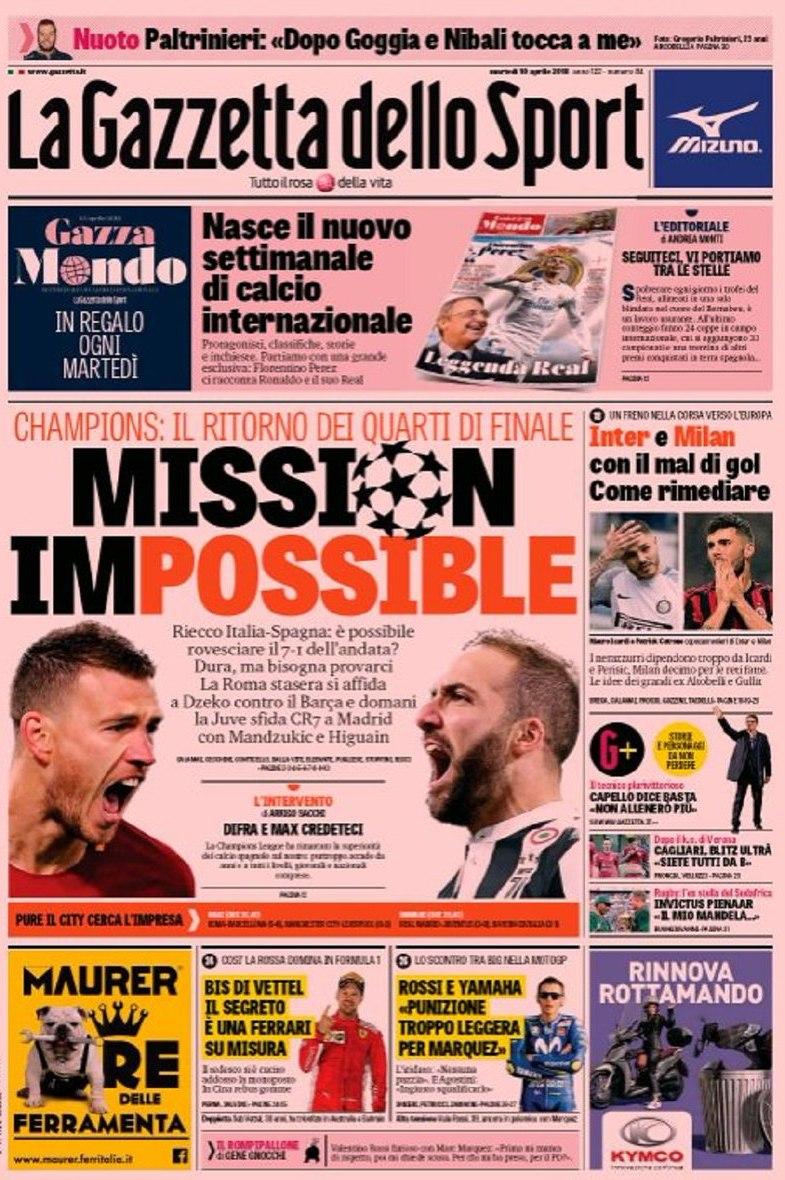 Gazzetta mission impossible