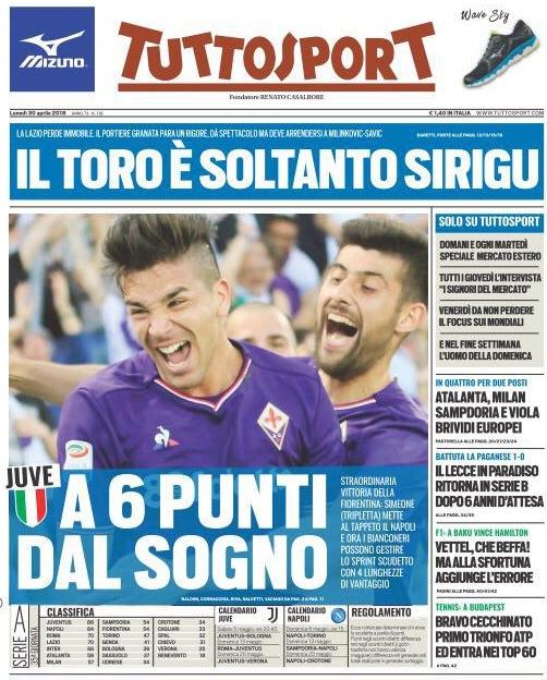 Tuttosport Fiorentina Napoli