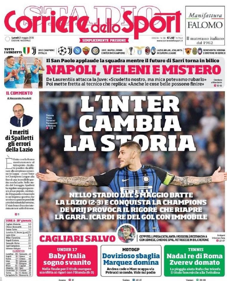 Corriere Inter cambia storia