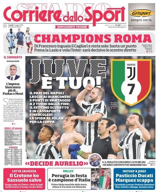 Corriere Juventus scudetto