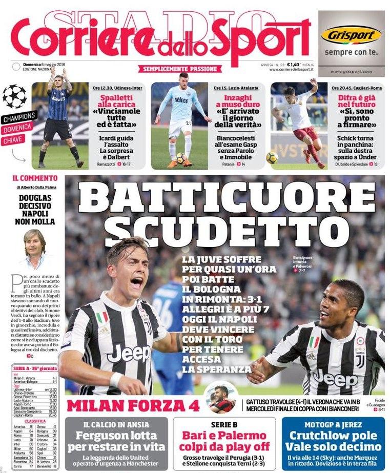 Corriere sport batticuore scudetto