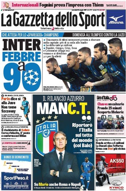 Gazzetta febbre Inter