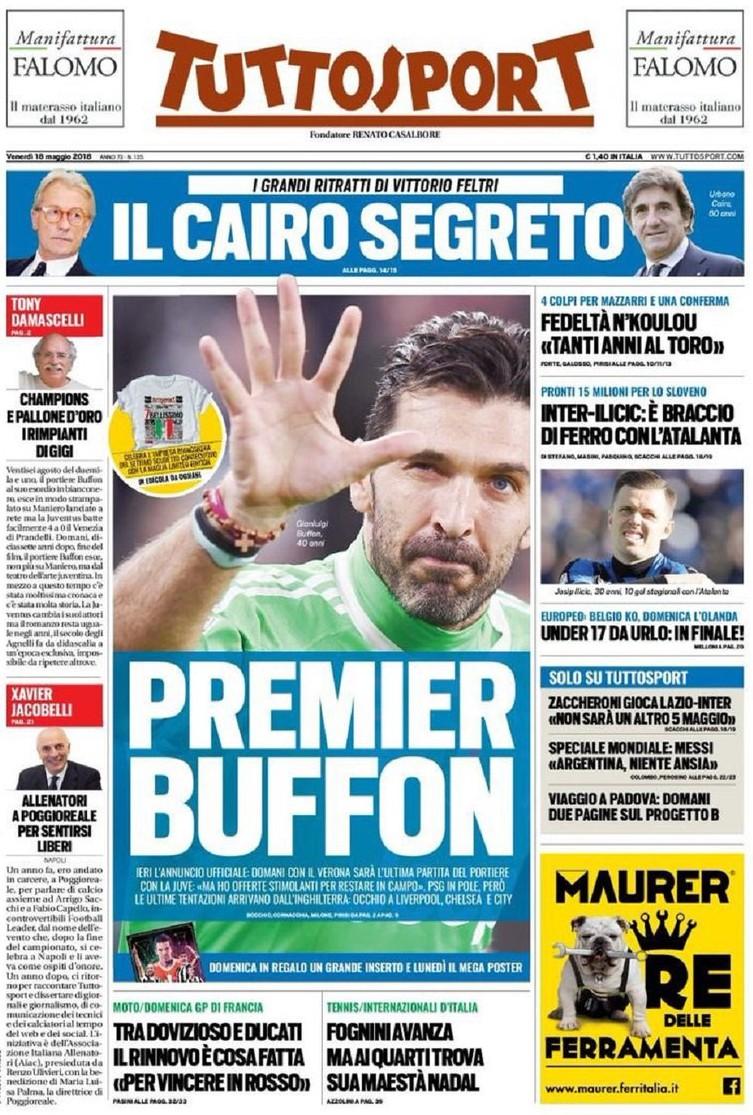Tuttosport Buffon premier