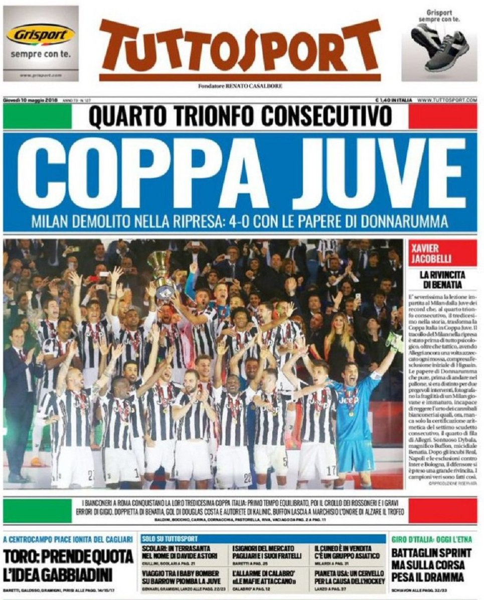 Tuttosport Coppa Juve