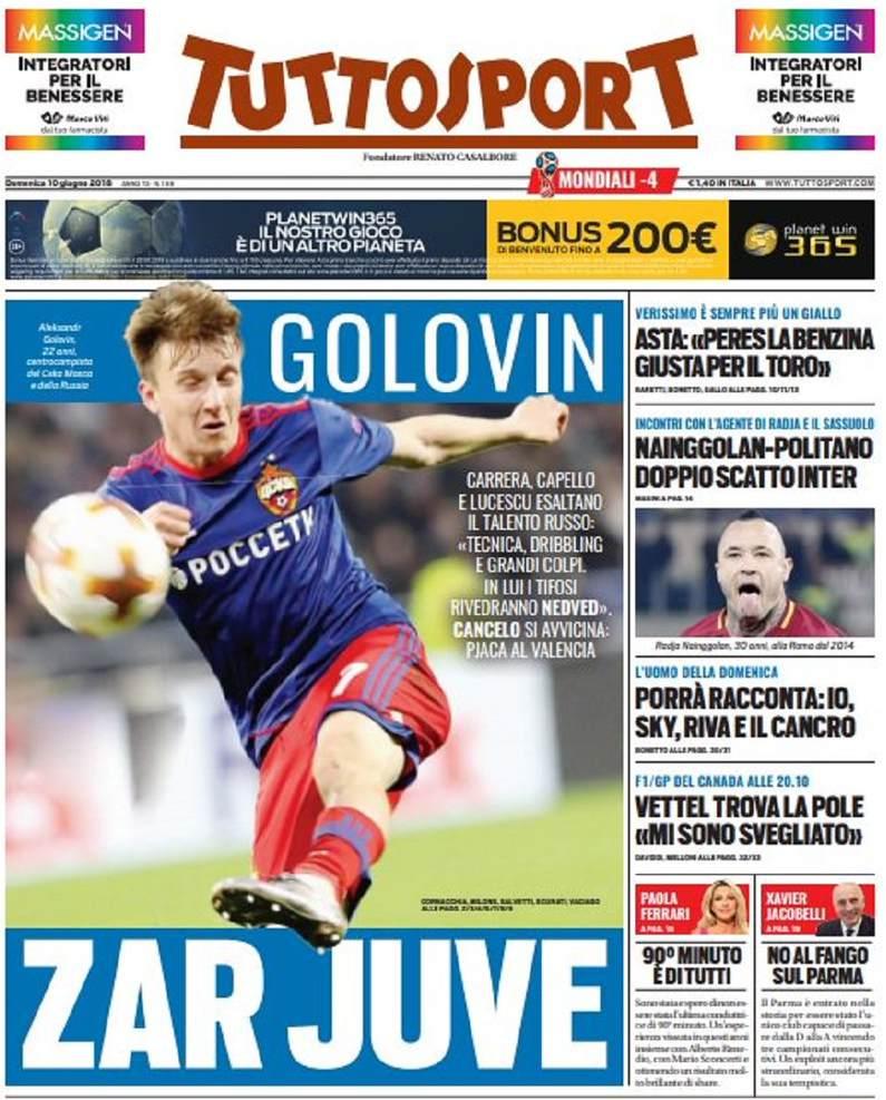 Tuttosport Golovin