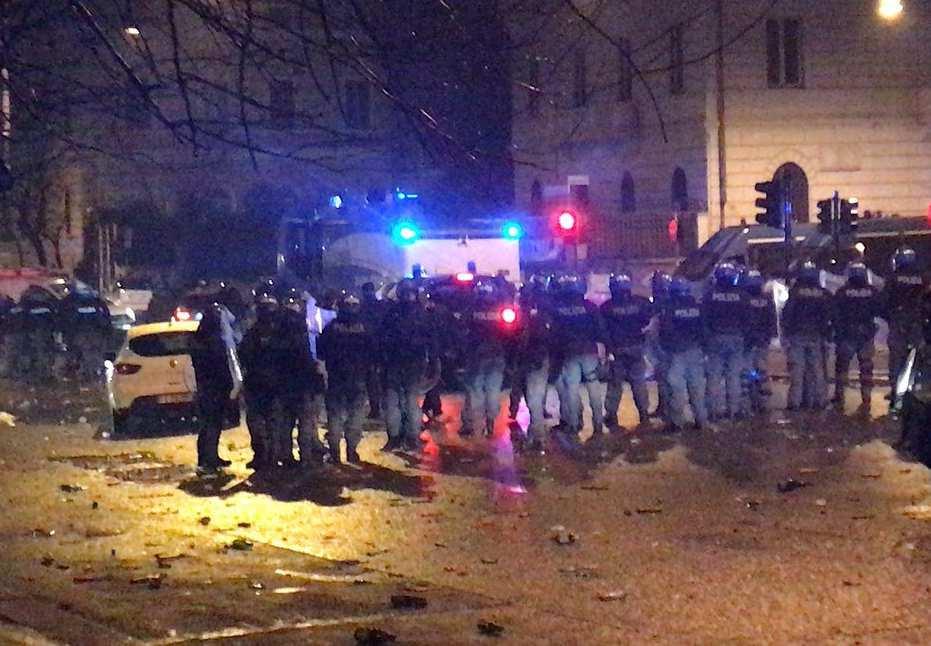Lazio festa incidenti
