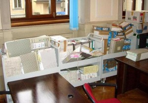 09.02.03 04 Gorizia, aula della Corte di assise; documenti del processo Sacher Compost