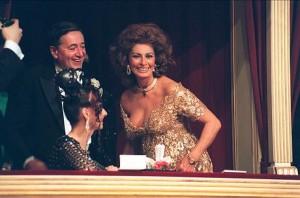 11.02.21 Richard Lugner con Sophia Loren