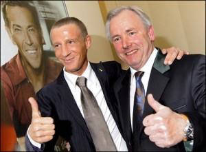 12.12.07 Stefan Petzner e Gerhard Dörfler dopo la vittoria elettorale del 2009