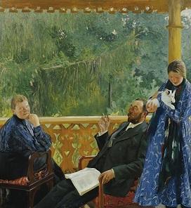 14.07.21 Ritratto famiglia Polenow, di Boris M. Kustodijew, in mostra al Belvedere - Copia