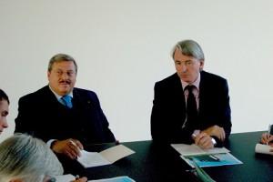 06.10.06 03 Tavagnacco, inaugurazione Hypo Bank; Lorenzo Di Tommaso, Wolfgang Kulterer