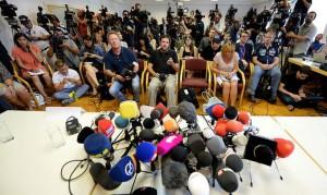 15.08.29 Vienna, conferenza stampa su migranti soffocati a Neusiedl-Parndorf