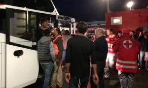 15.09.14 Migranti in arrivo a Villach