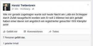 15.10.23 Facebook, post di Harald Trettenbrein