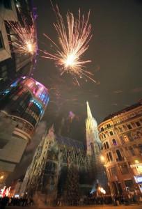 15.12.312 Vienna, fuochi d'artificio di fine anno
