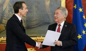 16.05.17 Christian Kern con il presidente Heinz Fischer