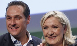 16.06.17 Vienna; Heinz-Christian Strache con Marine Le Pen