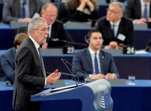 17.02.14 Strasburgo, Alexander Van der Bellen al Parlamento europeo