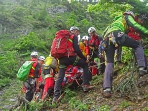 17.06.07 Eisenerzer Reichenstein, soccorso alpinisti precipitati 5 - Copia