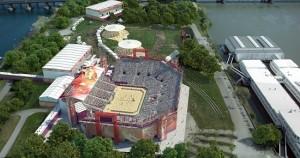 17.07.04 Vienna, arena beach volley sull'Isola del Danubio - Copia