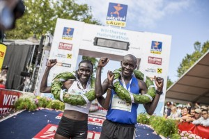 17.08.20 Viola Kibiwot e Peter Kirui, Mezza maratona Woerthersee