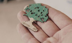 17.09.14 Francobollo legno quercia per 20 anni Bundesforste