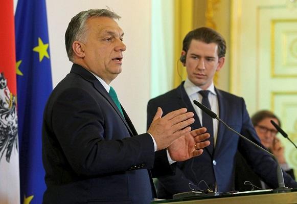 18.01.30 Viktor Orbán e Sebastina Kurz, Vienna, cancelleria - Copia