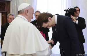 18.03.05 Papa Fransceo con Sebastian Kurz 2