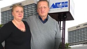 18.03.28 Vienna, Robert Salfenauer con moglie Mara Salfenauer