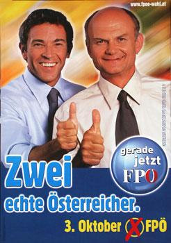 18.05.28 Elezioni 1999, manifesto FPÖ con Haider e Thomas Prinzhorn