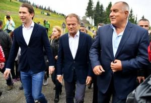 18.06.30 Schladming_Planai Sebastian Kurz, Donald Tusk, Bojko Borriso
