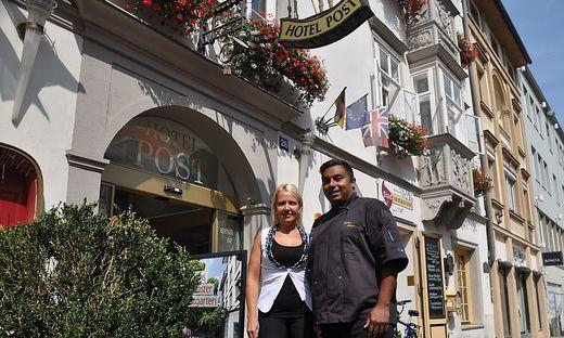18.09.06 Villaco, hotel Post, direttrice Birgit Gschwenter, chef di cucina Günther Steiner