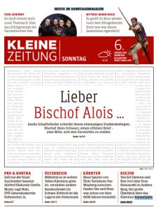19.01.06 Prima pagina Kleine Zeitung su Alois Schwarz