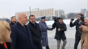 19.01.21 Varsavia, Matteo Salvini con min. interni polacco Joachim Brudzinski 4