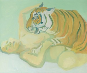 19.07.20 Albertina, Maria Lassnig, Dormire con una tigre 1975 - Copia