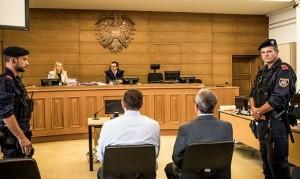 19.07.27 Klagenfurt, Eduard Lassnig padre figlioin tribunale