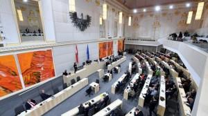 19.07.30 Parlamento Nationalrat, aula provvisoria alla Neue Hofburg