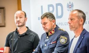 19.08.08 Polizia di Klagenfurt; Mario Wurzer, Philipp Glanzer, Gottlieb Schrittesser